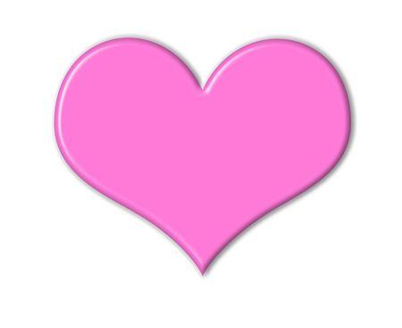 흰색 복사본 공간 핑크 하트 디자인