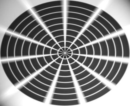 Abstract black web white light