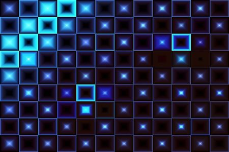 Abstract Blue Stars