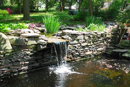 Waterfall Pond Stock Photo - 2634743