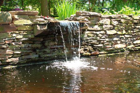 Bassin De Jardin Avec Chute D Eau - Rellik.us - rellik.us