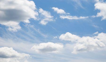 아름 다운 푸른 하늘