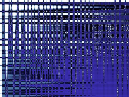 Abstract blue digital lines