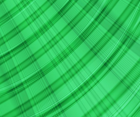 Green Abstract Background with Lines and Curves