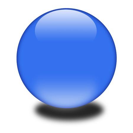 3d 푸른 색된 구입니다. 귀하의 e 비즈니스 또는 웹 사이트에 대 한 광택 구를 잡기 눈.