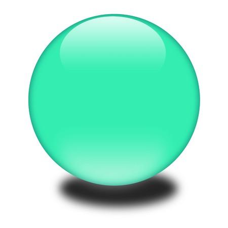 3d 녹색 색깔의 구입니다. 귀하의 e 비즈니스 또는 웹 사이트에 대 한 광택 구를 잡기 눈.