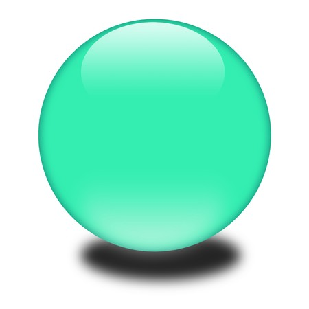 3d green colored sphere.  Eye catching glossy orb for your e-business or website.