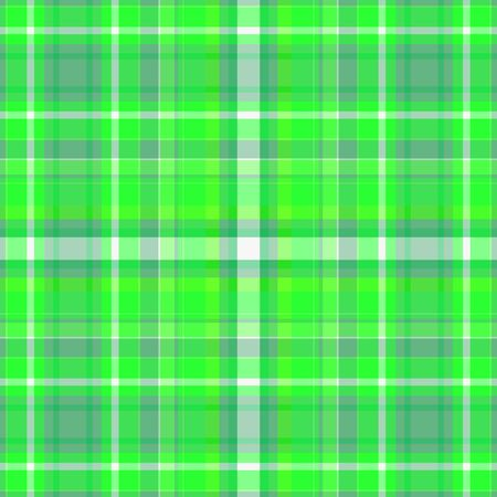 Green plaid background digital design with white