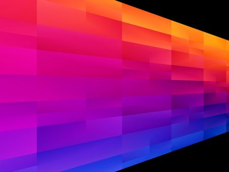 검은 배경 가진 블루 핑크 오렌지와 빨간색 추상적 인 디자인