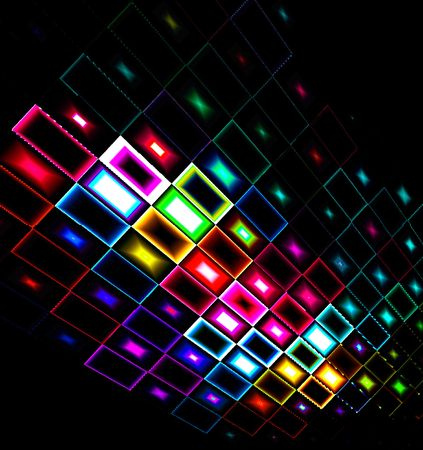 Multicolored abstract design focus down with black background Stock Photo - 4928336