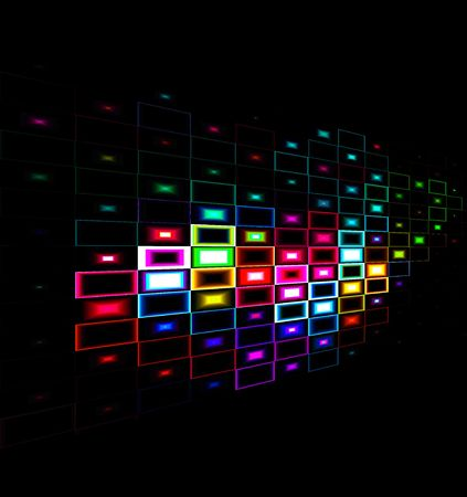 Multicolor abstract background design with a black background
