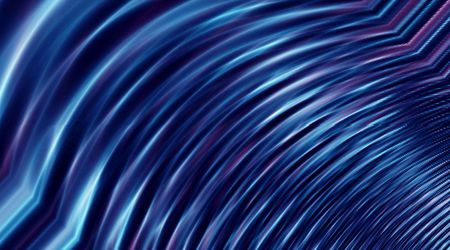 Blue textured abstract background with wave affect