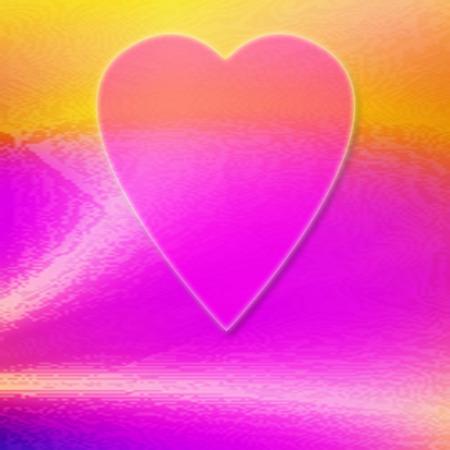 텍스처와 다채로운 추상적 인 심장