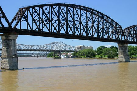 kennedy: three bridges spanning the ohio river at louisville, kentucky.