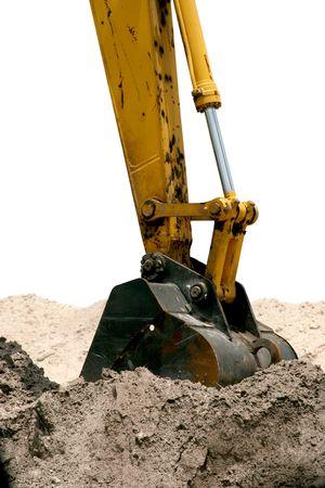 apalancamiento: Una vuelta azada, cavar hasta la suciedad. Aislado.