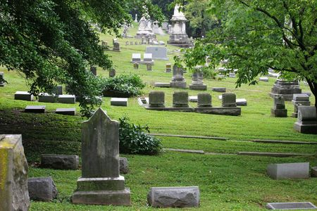 historic cave hill cemetery in Louisville Kentucky Stock Photo