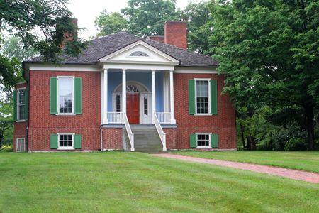 casa colonial: Farmington un siglo 18 antibelllum casa colonial construida a partir de un dise�o de Thomas Jefferson  Foto de archivo