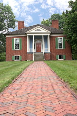 a photo of farmington, a colonial home in Louisville, Ky built from a design by Thomas Jefferson photo
