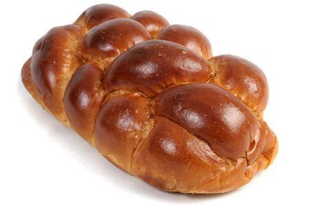 shabat: Un pan del pan del jal� para el shabbat, aislado.