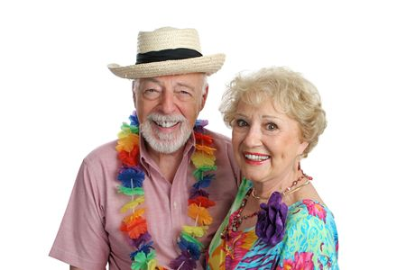 An attractive mature couple enjoying their second honeymoon on a tropical vacation. Stock Photo - 388979