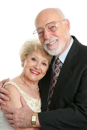 A handsome, successful senior couple dressed up for a special occasion. Stock Photo - 551505