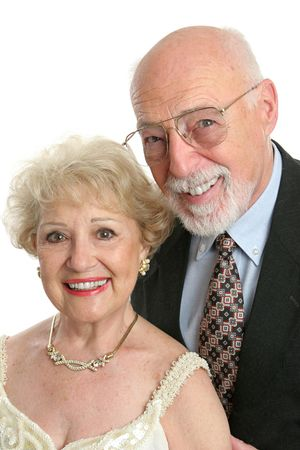 A handsome senior citizen couple dressed up for a night out. Stock Photo - 551504