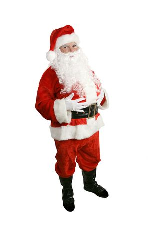 A traditional Christmas Santa Clause, full body isolated. photo