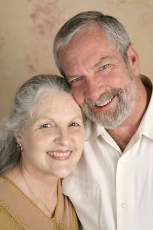 A happy, good-looking mature couple. Imagens