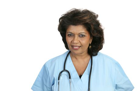 A concerned nurse or doctor in scrubs. Stock Photo - 806097