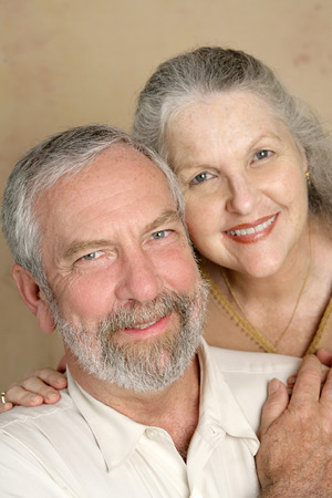midlife: A committed, happily married middle aged couple.   Stock Photo