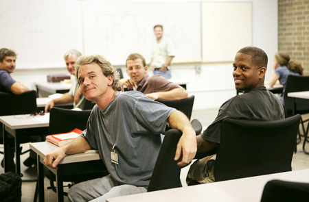 A diverse group of adult education students in class. Stock Photo - 1718486
