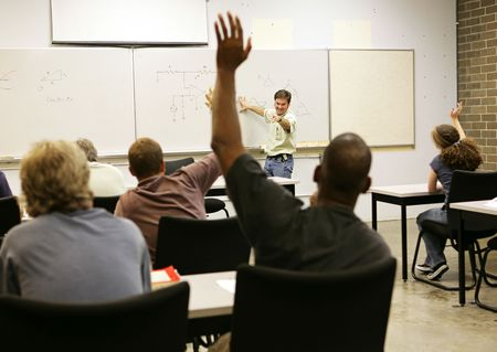 Adult education teacher in front of his class. Stock Photo - 2392207