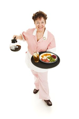 Friendly waitress serving you. Stock Photo - 6453366