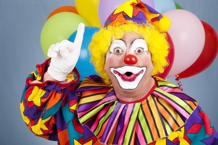 clown cirque: Dr�le de cirque clown avec une id�e brillante.