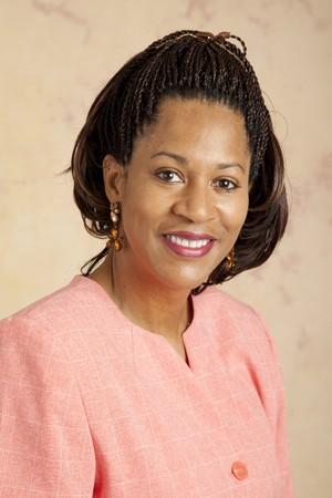 cornrows: Retrato de una empresaria hermosa, african-american.
