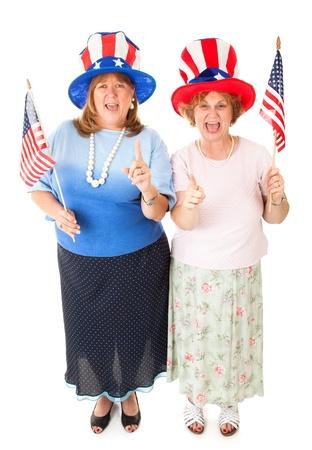 voter: Enthusiastic American patriotic Tea Party voters.