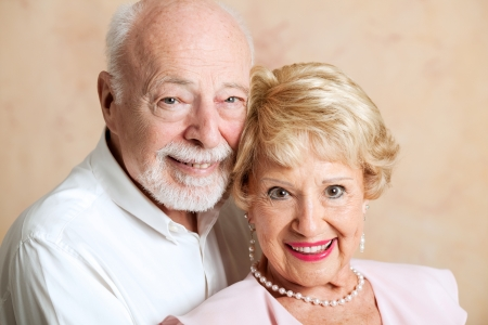 Closeup portrait of beautiful senior husband and wife. Stock Photo - 15563481