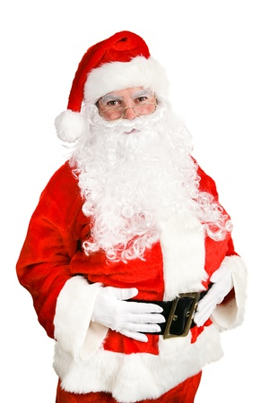 santa suit: Friendly, classic Santa Claus Isolated on white background.