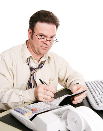 checkbook: Marido cuentas con el banco de la familia y no est� satisfecho con los gastos en que ha encontrado.