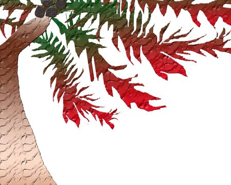 sway: holiday palm illustration