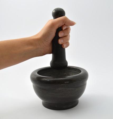 mortero: mortero de mano Foto de archivo