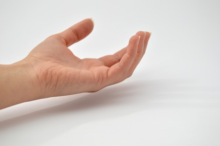 extend the hand Stock Photo
