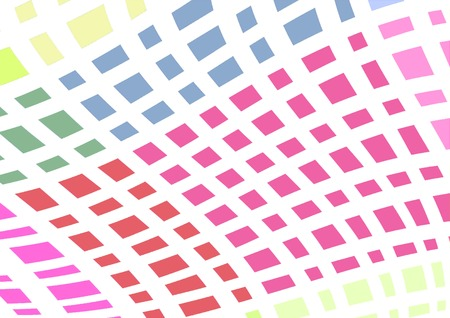 Abstract graphic background with colorful curved lines Stock Photo