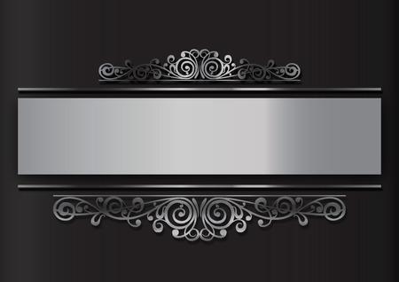 navidad elegante: de fondo con decoración floral de plata en base neutra