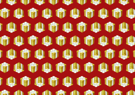 eg: graphic background with gift box and bow