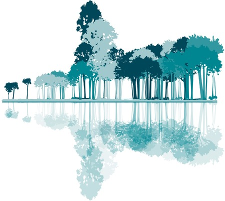 neutral background: illustration of forest on neutral background