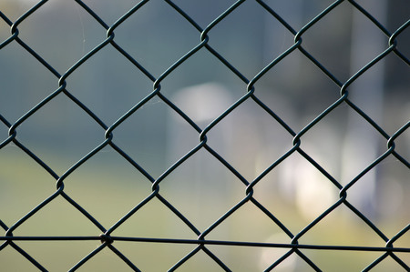 metal grid: metal grid fence over blurred