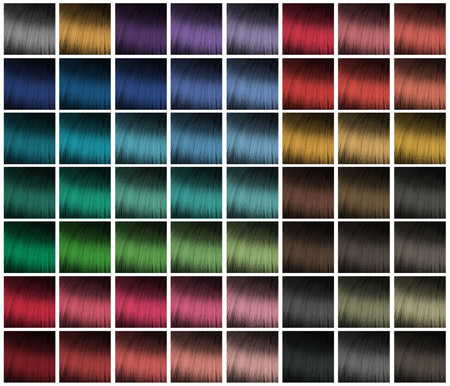 dyeing: color palette for hair dyeing