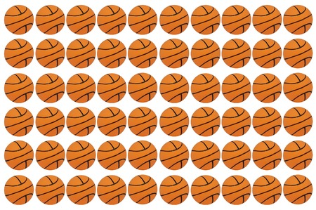 basketballs: graphic background with basketballs on white background