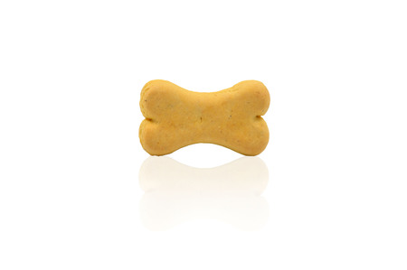 dog biscuit: isolated dog biscuit on white background Stock Photo